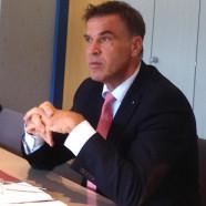 Peter Fiebelkorn, Geschäftleiter AWN Service GmbH bei seinem Besuch der SPD-Kreistagfraktion am Freitag, den 04.09.2015