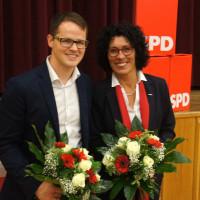 Freuen sich über das jeweils hervorragende Ergebnis bei der Stimmkreiskonferenz, Jörg Pischinger und Helga Raab-Wasse