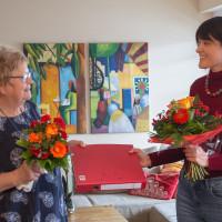 """Ehrungen und """"Stabsübergabe"""" von alter zu neuer Vorsitzenden"""