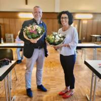 Helga Raab-Waase und Steffen Salvenmoser bilden die Doppelspitze der SPD im Kreis Miltenberg