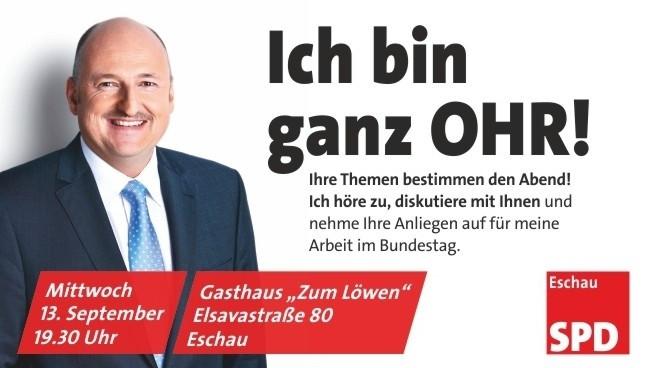 """""""Ich bin ganz OHR"""" Veranstaltung mit MdB Bernd Rützel"""