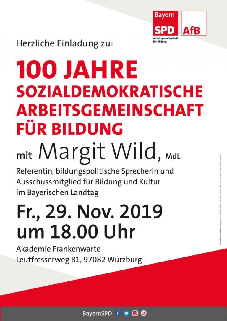 Einladung zur Jubiläumsveranstaltung 100 Jahre AfB