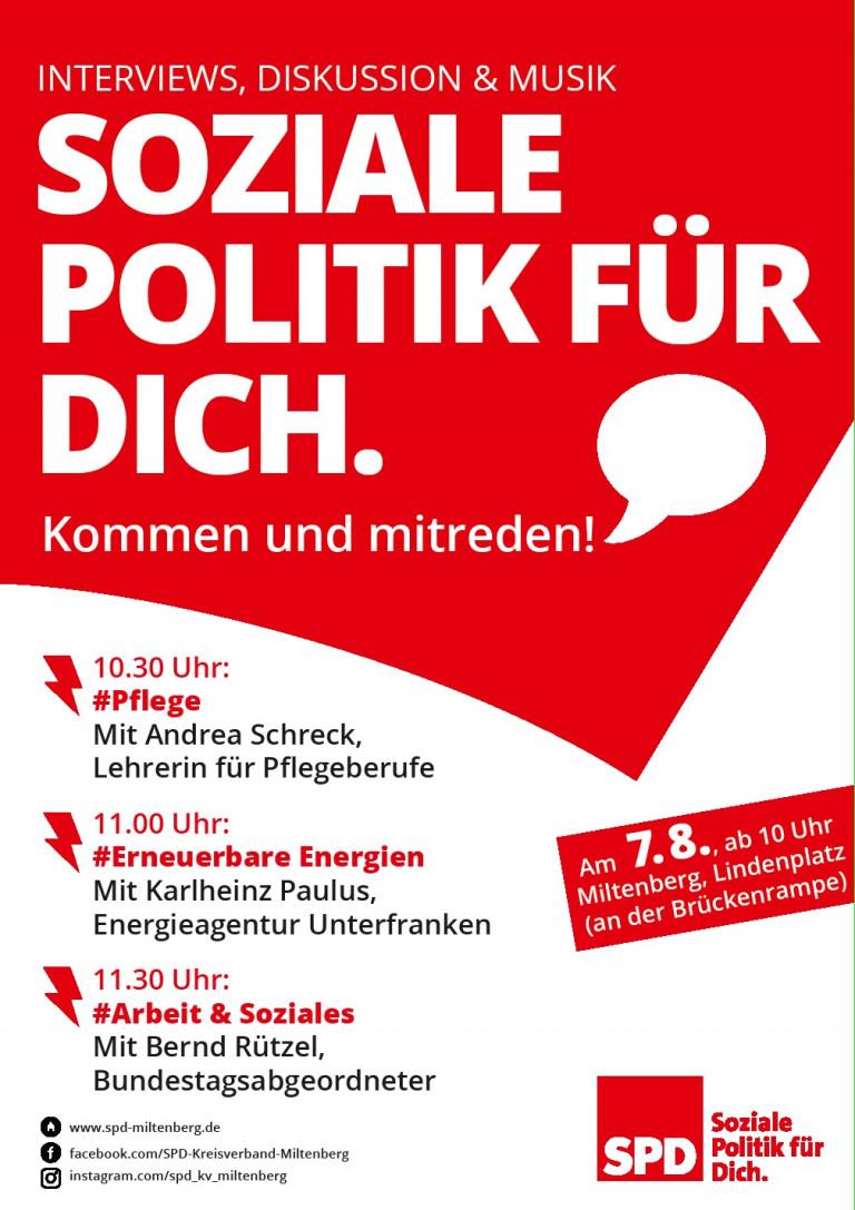 Soziale Politik für Dich. Kommen und Mitreden