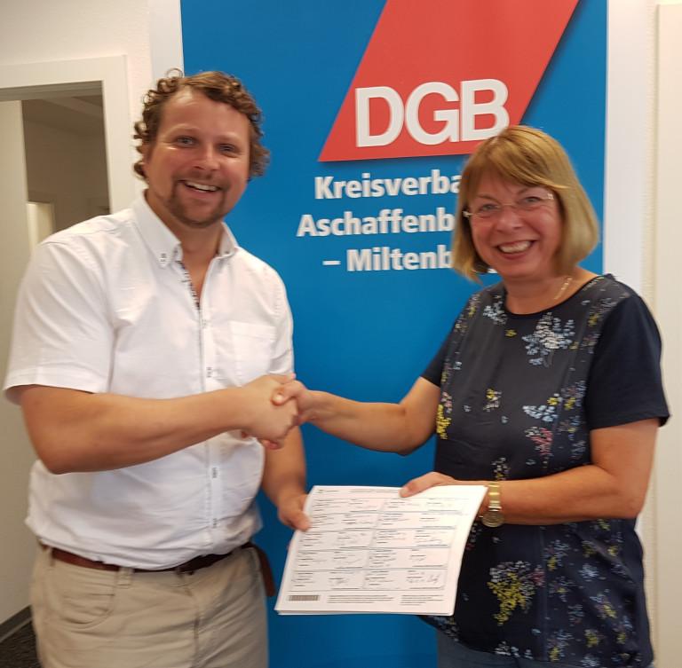 DGB Vorsitzender Björn Wortmann und Monika Wolf-Pleßmann